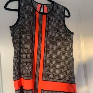 vince camuto silk abstract top